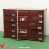 Gabinete Handmade industrial do recipiente do metal do vintage