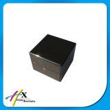Boîte de présentation en bois simple de montre de carbone de cadre réel de luxe de fibre