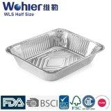 Talla profunda 45 de la plata de la bandeja del papel de aluminio de la cocina del hogar - espesor 70mic