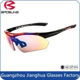 Les lunettes de soleil matérielles de base-ball l'âge et du bâti unisexes de PC ont polarisé la bicyclette UV400 neuve pilotant des glaces de Sun de sports en plein air du type 2016 de lunettes