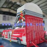 La base gonfiabile della trasparenza del bus/trasparenza esterna adulta gonfiabile lunga gonfiabile dell'acqua Slide/PVC