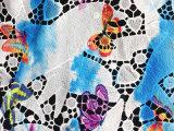 Printtingのレースの織物のかぎ針編みの化学レースファブリック