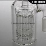Fabricante de vidro para fumar 8 braços de árvore de vidro Ashcatcher Hookah Ash Catcher Atacado Borosilicate