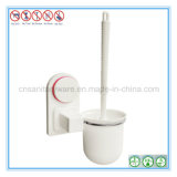 Spazzola della toletta di pulizia della stanza da bagno della tazza di aspirazione ed insieme del supporto