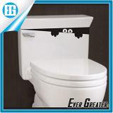 Стикер личности черноты крышки места туалета творческий декоративный