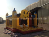 Slidesの微笑Face Jumping Castle Combo Inflatable Trampolines
