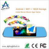 1080P H. 264 Auto-hintere Ansicht-Spiegel DVR 7 Zoll IPS-Bildschirm mit androider Navigation des Systems-GPS, Bluetooth, FM