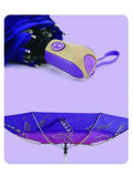 Parapluie protégeant du vent d'Open&Close de fois du polyester 3 d'impression (YS-3FD22083507R)