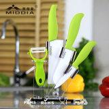Оптовая продажа 5 керамического частей ножа кухни установила с держателем для продукта дома/кухни