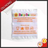 Reizender Kind-Kleid-Zubehör-Polyester-Enden-Falten-Inhalts-Kennsatz 100%