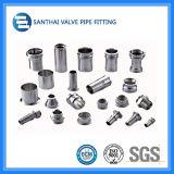 Metalen kap van de Montage van de Pijp van het roestvrij staal de Uitgebreide Mannelijke Sanitaire 304-316L