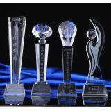 2016 Premio de base popular Negro Trofeo de cristal