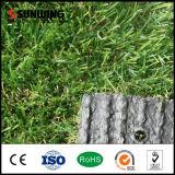 Grama artificial plástica verde Uv-Resistente dos baixos preços em Rolls com GV