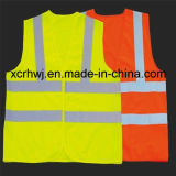 Fabricante reflexivo da veste, fábrica da veste da segurança, preço Sleeveless reflexivo da camisa do tráfego da estrada, revestimento reflexivo, veste 100% reflexiva do tráfego do poliéster