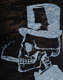 Griller le T-shirt de té de dames estampé par coton fait sur commande de modèle de mode de tissu