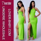 Colores fluorescentes del hilado neto atractivo del vestido de costura L27960-1