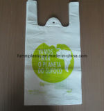 LDPE HDPE Afgedrukte het Winkelen van de T-shirt Zakken