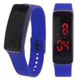 Gelbert Mann-Frauen-Silikon-Sport-Armbanduhr mit wasserdichtem
