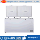 Congelador da caixa da temperatura do dobro da porta de dobradura
