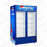 Doppelte Tür-aufrechte Getränkebildschirmanzeige-Kühlvorrichtung mit dem dynamischen Abkühlen