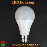 Cubierta plástica del bulbo de B22 A65 LED para 12 vatios