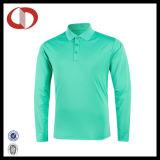 Polyester-langes Hülsen-Pikee-Polo-Hemd 100% für Männer