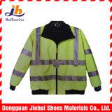 Bande r3fléchissante de tissu de polyester élevé de visibilité pour le vêtement de vêtements de travail de sûreté