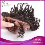 Cheveux humains de la Vierge 4*4 de fermeture brésilienne bouclée crépue de lacet