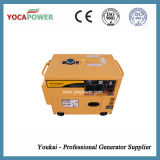 Tipo de refrigeração ar da potência pequena silenciosa do motor Diesel de 5kw gerador portátil elétrico com produção de eletricidade 4-Stroke de geração Diesel