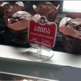 Freie Plastikzeichen-Halter für Bäckerei-Speicher