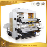 Machine flexographique de presse typographique de plastique/papier de deux couleurs