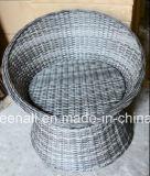 屋外の藤または枝編み細工品のComfirtableのコーヒーセットの庭の家具