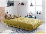Gelbes Gewebe-Sofa-Bett für Haus-Gebrauch (SB003)