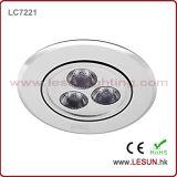 3*1W 커트 구멍 70mm LED 내각은 사무실 또는 침실 또는 보석상에서 아래로 점화한다