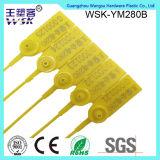 Gelbe Plastikbehälter-Dichtung des China-Plastikdichtungs-Fabrik-Fertigung-Zug-fest 28cm