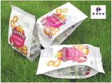De de vlakke Zak/Tribune van de Bodem op het Suikergoed van de Zak, pufte Voedsel, Pinda, Machine van de Verpakking van het Koekje de Verticale
