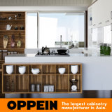 Cabinet de cuisine moderne de forme du blanc U de l'Indonésie (OP15-M06)