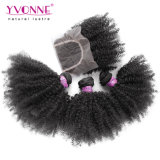 Afro-verworrenes lockiges brasilianisches Haar mit Schliessen
