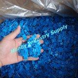 Massenverpackungs-blaues Plastikhauptnickel überzogene wellenförmige Markierungsfahnen-Kopf-Stahlstifte (P160728A)