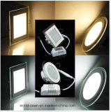 Diodo emissor de luz elevado Panel do diodo emissor de luz Light de Lumen 18W Glass (WD-Glass01-R-18W)