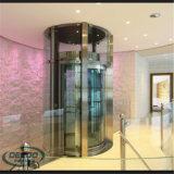 Sightseeing rapidamente elevador transparente do vidro do turismo de 4 povos