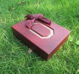 Boîtes de stockage de papier granuleuses rouges de bonbon