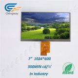 Auflösung Lvds Schnittstelle LCD-Bildschirmanzeige-Monitoren 7 Zoll-1280*600