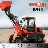 El registro de Everun ataca Zl10 cargador de la rueda del cargador de 1 tonelada mini