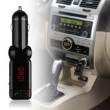 Car Kit MP3 Music Player Wireless Bluetooth Transmissor FM Rádio com 2 portas USB