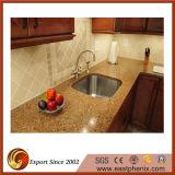 Bancada da cozinha da pedra de quartzo da boa qualidade