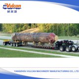 Tri-Axle Hydraulic Lifting Suspension Lowbed Trailer per Heavy Transportation