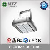 Alta illuminazione della baia di Flb-100 LED, L esterna illuminazione, equivalente di 250W HPS, 11500lm, bianco puro di luce del giorno, alti indicatori luminosi di inondazione della baia da 60/90 di grado LED