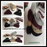Winter-gefälschter Pelz-heißer Verkaufs-Form-Earflap gestrickter Hut-Hersteller (KH1503-16)