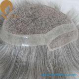 老人のための40%Black60%Grey人間の毛髪の置換のToupee